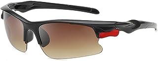 QWKLNRA - Gafas De Sol para Hombre Lente Marrón Marco Negro Polarised Sports Sunglasses Gafas De Sol Deportivas Deportivas Pesca Classic Sun Glasses Men's Driving Shoes Gafas De Conducción Gafas De