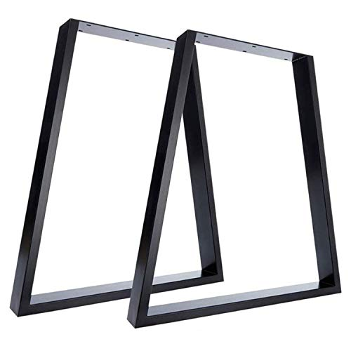 Nisorpa Trapezoid Table Legs Black 2x Heavy duty Industrial Metal Table Legs T Shaped Furniture Legs DIY Dining Office Cofee Frame 71x45x65CM