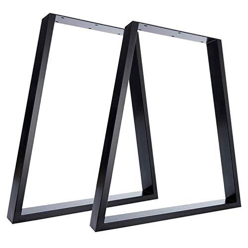 Nisorpa Patas trapezoidales de metal negro industrial patas de mesa en forma de T para muebles,...