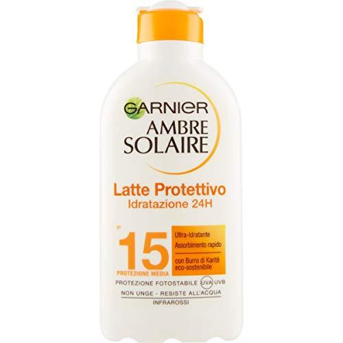 Körpersonnenschutz latte protettivo ultra-idratante ambre solaire spf15 200 ml