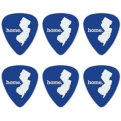 New Jersey NJ Heimatstaat Solid Navy Blue offiziell lizenzierte Neuheit Plektren mittlerer Spur - Set von 6