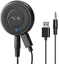 [Upgraded] Roav Bluetooth Receiver, by Anker, with Bluetooth 4.1, CSR Bluetooth Chip, Noise-Cancellation, Integrated Mic for Hands-Free Calling, AUX-Out, and a USB Charging Port