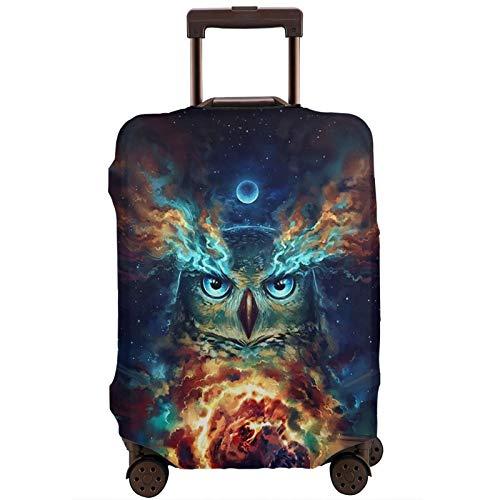 Cubierta de equipaje de la pintura de diamante galaxia búho maleta de viaje protector de cremallera maleta cubierta lavable moda impresión equipaje cubierta cremallera maleta de viaje protector