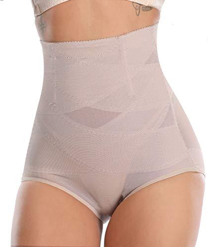 MISS MOLY Bragas Fajas Reductoras Cintura Alta Shapewear Braguitas Moldeadora Levanta Glúteo Vientre Plano Ropa Interior con Elástico Cruzado Malla para Mujer ✅