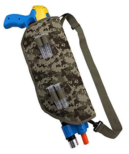 POMER Funda de Lona para Pistola Bug-B-Salt Gun Series 2.0/3.0, con Correa Antideslizante Ajustable y 4 Tubos de Sal, Camuflaje
