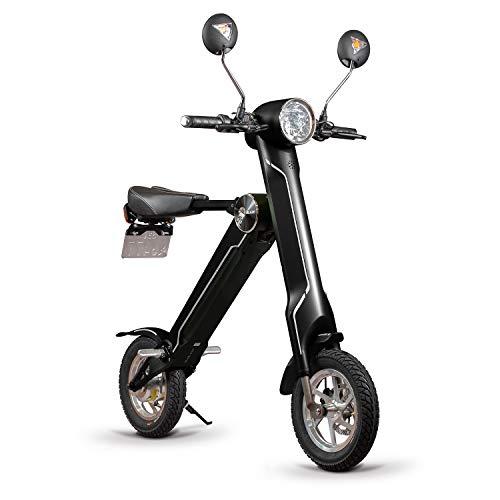 BLAZE 電動バイク 折りたたみ型 (ナンバー取得付き) ブラック SMART EV 車内積込み可能 12インチ 重量約18kg 脱着式バッテリー