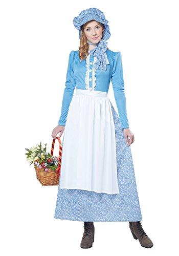 California Costumes Women's Pioneer Woman Costume, Blue/White, Medium