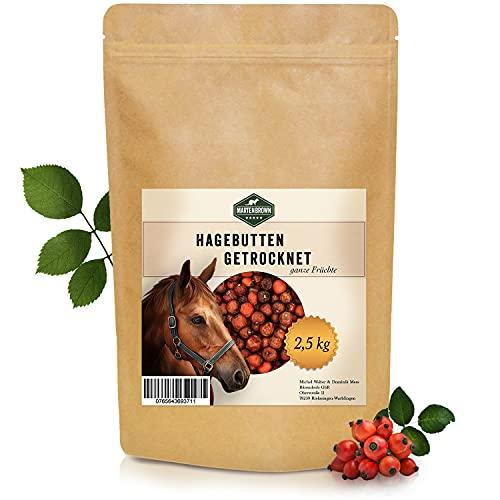 Martenbrown® Getrocknete Hagebutten für Pferde 2,5kg ganz - Vitamine für Pferd, Pony und Esel - für EIN gesundes Immunsystem