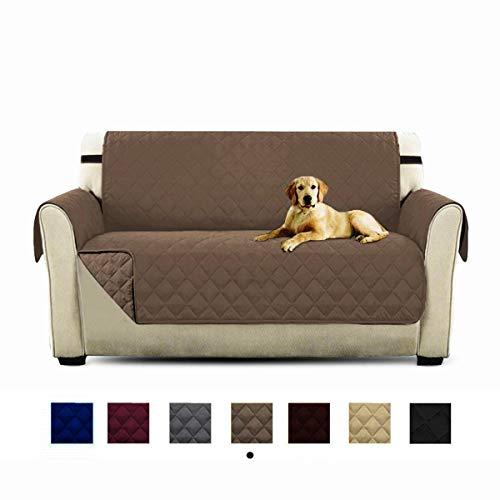 HONCENMAX Funda Cubre Sofá - Protector para Sofás Acolchado - Anti-Sucio para Mascotas Protector de Sofá Muebles - 2 Plazas (90''X 75'')