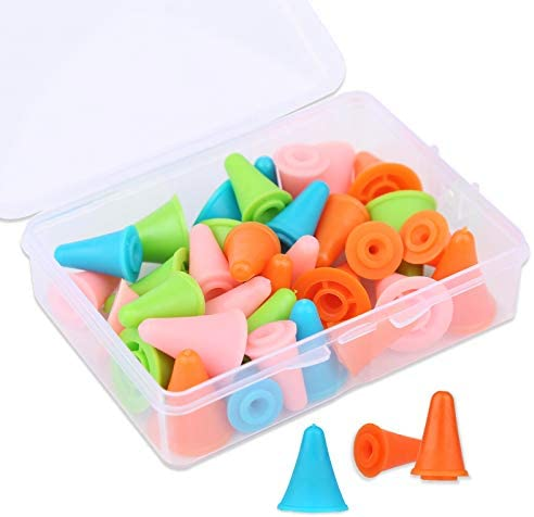 35 PCS Multi Colored Knitting Needles Point Protectors Stoppers with Plastic Box 2 Sizes 20 product image