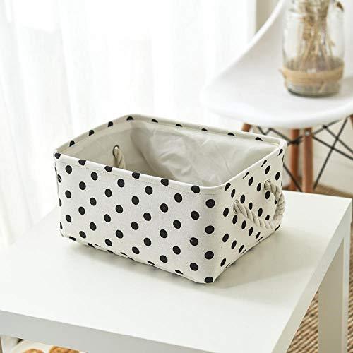 Generic Canevas boîte de Rangement en Tissu Jouet tiroir à vêtements Maison étudiant Bureau Drawstring Tension-G