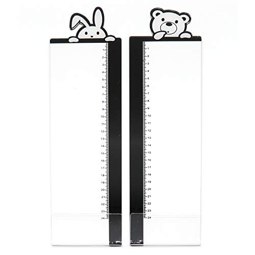 TMORU Monitor Memo Board Creative Multifunction Message Sticky Notes Transparent Boards with Scale 2pcs Left and Right