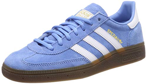 adidas Handball Spezial, Sneaker Hombre, Light Blue/Footwear White/Gum, 43 1/3 EU