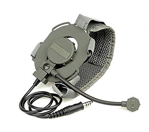WorldShopping4U ATAIRSOFT z-tac z-Tactical Z029 Mikrofon Headset Bowman Evo III Double Side Tactical Headset Adapter Militär Airsoft Jagd Mikrofon Radio Fg mit Gurt