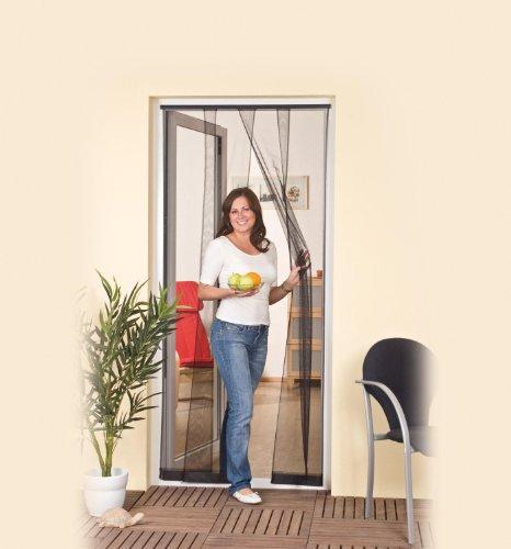 Lamellenvorhang Fliegengitter Tür bis 100 x 220 cm anthrazit