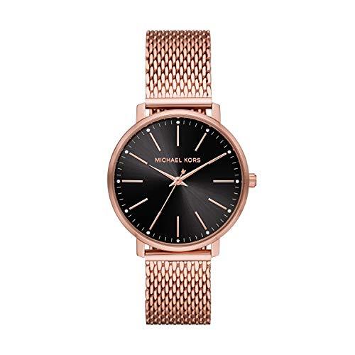 Michael Kors Women's Pyper Quartz Watch with Stainless Steel Strap, Pink, 18 (Model: MK4566)