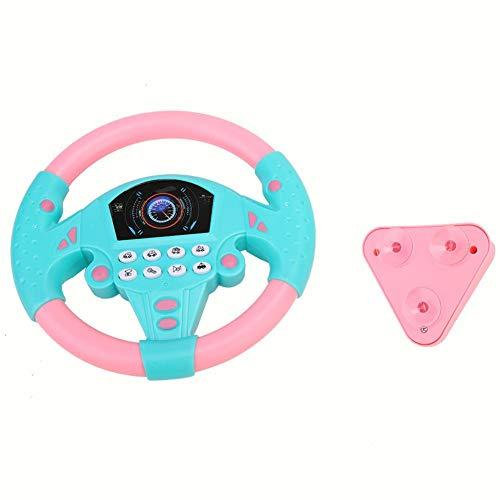 Deryang Volante para niños, Herramienta para Volante no tóxica, ecológica para niños de 4 a 6 años con Sentido de la música(Pink Blue)