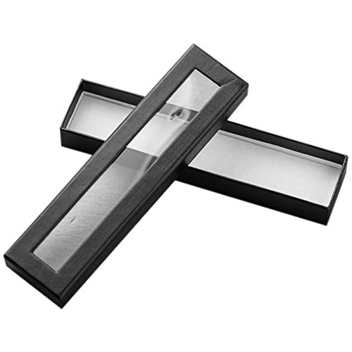 SNOWINSPRING 10Pcs / Set Pen Box Transparentes Fenster Pen Box Papierverpackung Metall Geschenk Pen Box Gro?Handel