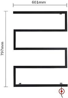 JUNPE Radiador Toallero Electrico Negro Eléctrico De Toallas Inoxidable Toalla Calentador De Toallas Negro Mate Acabado Climatizada Ahorro De Energía De Seguridad Ferroviaria Baño