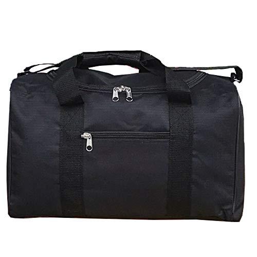 Ryanair Cabin Bags 40x20x25 Hand Luggage Maximum 2020 Size Holdall, Free Under Seat Flight Bag (1 x Black Holdall)