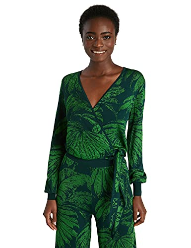 Desigual JERS_Les Marais Sudadera, Verde, L para Mujer
