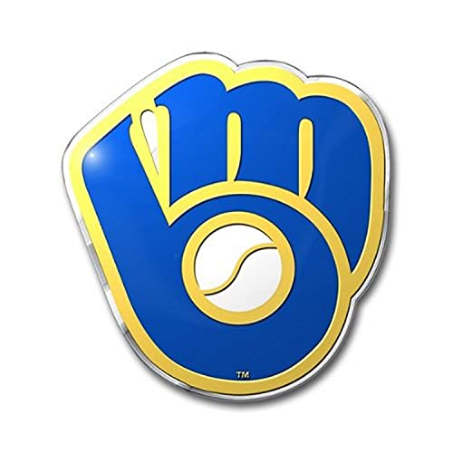 milwaukee brewers FANMATS MLB Milwaukee Brewers Die Cut Color Automobile Emblem, 4