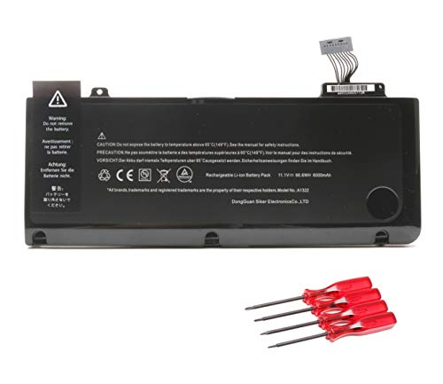 New A1322 A1278 Battery Replacement for Apple MacBook pro 13 inch Mid 2012 Early 2011 Late 2011 Mid 2010 2009 ; MB990LL/A MB991ll/A MC374ll/A MC375LL/A MC700ll/A MD101LL/A VUOHOEG Laptop Batteries