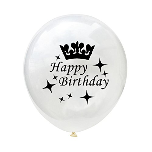 10PCS/set White Balloons 12'' Latex Balloons Happy Birthday Party Baby Shower Decoration Gessppo