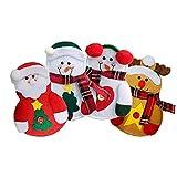 1 Juego de cocina Cubiertos Traje de Navidad cubiertos portacuchillas Navidad y Tenedor Cuchillos Forks Bolsa Suministros 4models vajilla muñeco de nieve de la decoración del partido
