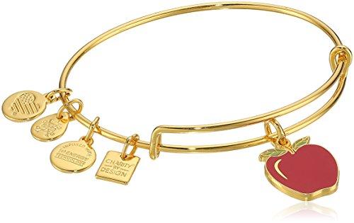 Alex and Ani Apple EWB, Shiny Gold Bangle Bracelet