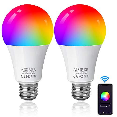 Prise Connectée Intelligente WiFi, AISIRER 3500W 16A Mini Prise de Courant Compacte...