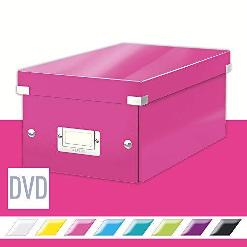 Leitz DVD Aufbewahrungsbox, Pink, Mit Deckel, Click & Store, 60420023