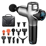 Massage Gun Deep Tissue Percussion Muscle Massager for Pain Relief, Super Quiet Portable Neck Back Body Relaxation Electric Sport Massager(Sliver)