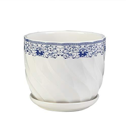 BPTCHP Maceta de cerámica, Estilo Minimalista, Maceta Blanca Macetero de Planta, Extra...