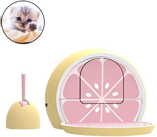 gengxinxin Facile Pulizia Toilette per Gatti Lettiera per Gatti - Toilette per Gatti Completamente Chiusa Forma di Limone E Design del Pedale del Cassetto Verde Pulito E Facile da Pulire-Rosa