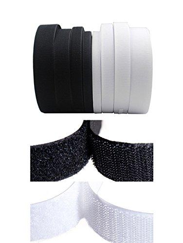 Rouleau de ruban scratch à coudre non-adhésif - Ruban magique en nylon - Outils de décoration 20MM X 2Meters Noir
