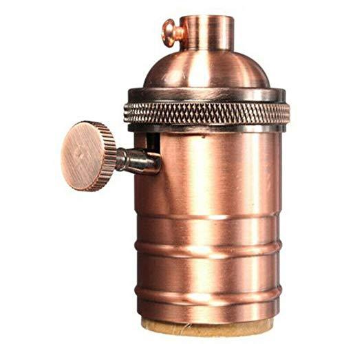 Adaptador de luz del Soporte de la lámpara del zócalo de Bombilla Retro Vintage E27 con Interruptor de Inicio