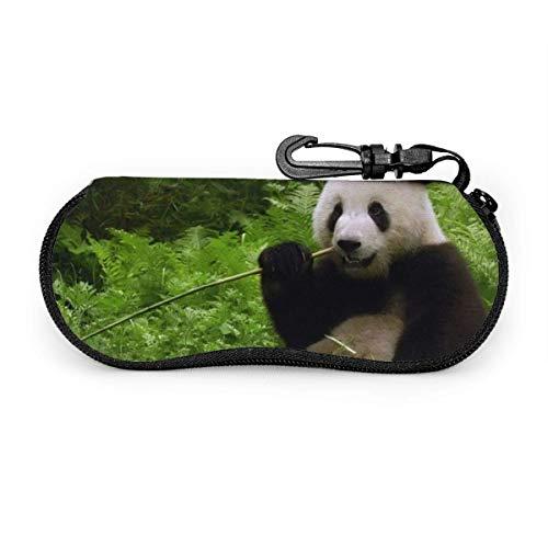 Portátil gigante comiendo gafas de sol de bambú con hebilla de cerradura bolsa suave ultra ligero buceo tela cremallera gafas caso