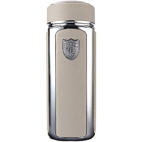 ANXI Sterling Silber Thermos Isolierreise-Tumbler-Reise-Becher Wasserflasche Halt heiß und kalt for eine Lange Zeit Geschäft Cup Business Office Schule Bankett (Color : White)
