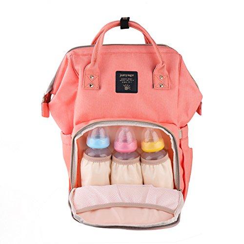 Baby Wickeltasche Rucksack mit Isolierte Milchtasche,Multifunktional Mama Reise Rucksack ,Wasserdicht Stoffe, Passform für Kinderwage,große Kapazität Tragbar Handtasche Organizer Wickelrucksack
