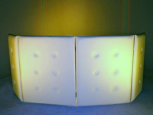 Purchase DJ Facade/DJ Booth - Dragon Frontboards - Plush Vinyl Facade 4 Panel-WHITE
