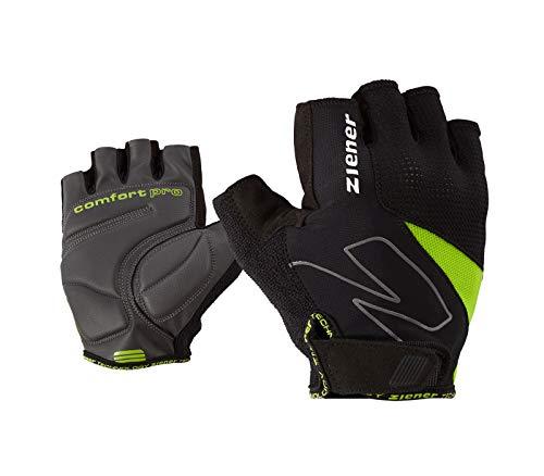 Ziener Erwachsene CRAVE Fahrrad-, Mountainbike-, Radsport-handschuhe | Kurzfinger - atmungsaktiv/dämpfend, lime green, 9,5