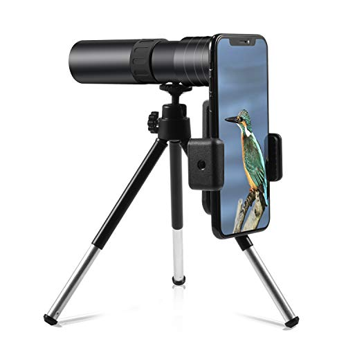 4K 10-300x40mm Super Telephoto Zoom Monocular Telescope Smartphone Holder Phone Clip Massachusetts