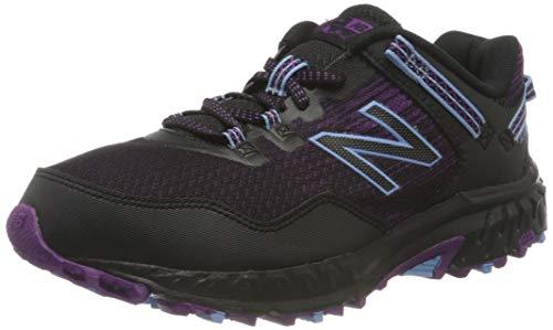 New Balance Damen 410v6 Trail Traillaufschuh, Schwarz (Black/Purple), 39 EU