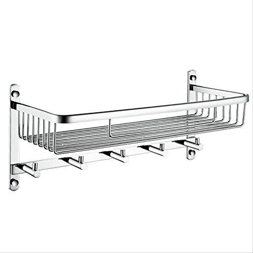 GIAO Badkamer Plank Badkamer Planken Wandmontage Rack Lange Vierkante Net Mand Met Haak Badkamer Hardware Hanger