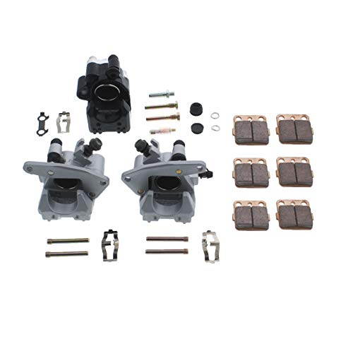 Race Driven Front & Rear Brake Calipers & Pads for Honda TRX300EX TRX400EX TRX400X 300 400 EX X 300EX 400X 400EX