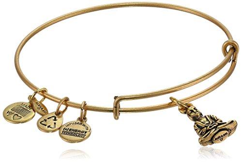 Alex and Ani 'Bangle Bar' Buddha Rafaelian Gold-Tone Expandable Wire Bangle Bracelet