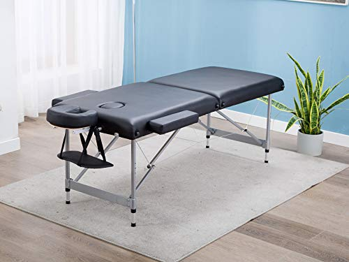 Artechworks Lightweight Massage Table with Aluminium Frame, 2 Fold Beauty Therapy Bed, w/Free...