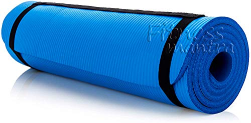 Fitness Mantra® Yoga Mat with Carrying Strap for Gym Workout and Yoga Exercise with 6mm Thickness, Anti-Slip Yoga Mat for Men & Women Fitness [Qnty.-1 Pcs.][with Carrying Strap]