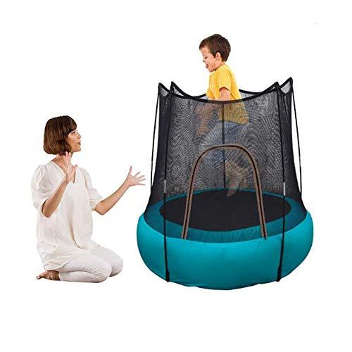 FXQIN Trampolino Fitness Portatile per Bambini dai 3 ai 6 Anni, Trampolino Gonfiabile, Tappeto Elastico con Rete di Protezione di Protezione UV, trampolini per Bambini per Uso Interno/Esterno
